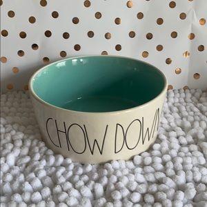 "Rae Dunn Large ""CHOW DOWN"" Pet Bowl"
